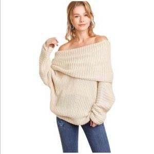 Umgee | Chunky Off the Shoulder Sweater Size L
